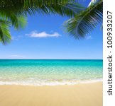 beautiful beach and tropical sea | Shutterstock . vector #100933207