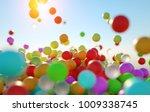 colorful bouncing balls... | Shutterstock . vector #1009338745
