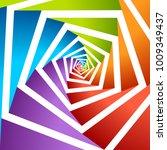 pentagonal hole artwork vector... | Shutterstock .eps vector #1009349437