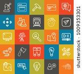 technology outline vector icon... | Shutterstock .eps vector #1009353301