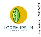 circle leaf logo designs vector | Shutterstock .eps vector #1009354339