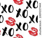 xoxo brush lettering signs... | Shutterstock .eps vector #1009357444
