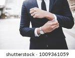 businessman in full suit... | Shutterstock . vector #1009361059