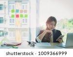 young asian business woman... | Shutterstock . vector #1009366999