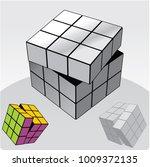 vector illustration of rubik's... | Shutterstock .eps vector #1009372135