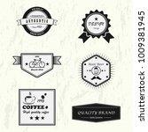 vector set of design premium... | Shutterstock .eps vector #1009381945