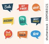set of sale  discount and... | Shutterstock .eps vector #1009383121