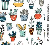 seamless pattern with colorful... | Shutterstock .eps vector #1009386019