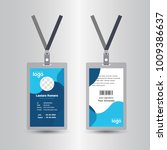 blue template staff or employee ... | Shutterstock .eps vector #1009386637