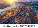logistics and transportation of ... | Shutterstock . vector #1009389319
