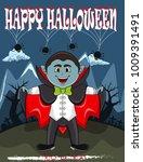 vampire for happy halloween...   Shutterstock . vector #1009391491
