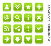 16 glossy green button with... | Shutterstock .eps vector #100939399