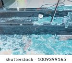 broken glass after bomb  ... | Shutterstock . vector #1009399165