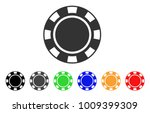 casino chip icon. vector... | Shutterstock .eps vector #1009399309