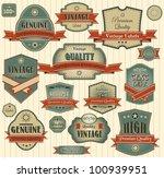 set of vintage retro premium... | Shutterstock .eps vector #100939951