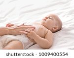 woman applying body cream on... | Shutterstock . vector #1009400554