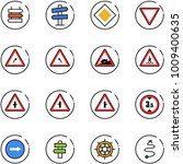 line vector icon set   sign... | Shutterstock .eps vector #1009400635