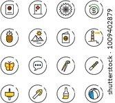 line vector icon set   passport ... | Shutterstock .eps vector #1009402879