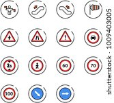line vector icon set   traffic...   Shutterstock .eps vector #1009403005