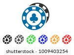casino chips icon. vector... | Shutterstock .eps vector #1009403254