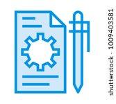 setting edit configure  | Shutterstock .eps vector #1009403581