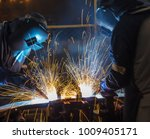 worker with protective mask... | Shutterstock . vector #1009405171
