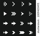 arrow icon  set vector   Shutterstock .eps vector #1009405495