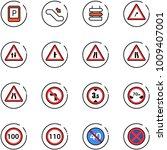 line vector icon set   parking... | Shutterstock .eps vector #1009407001