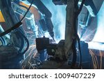 the movement of the robot... | Shutterstock . vector #1009407229