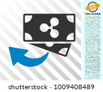 ripple cashback pictograph with ... | Shutterstock .eps vector #1009408489