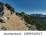 Small photo of Wide trail along the edge of a cliff along the Pacific Crest Trail in Washington State