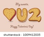 love you too. yellow cookies  ... | Shutterstock .eps vector #1009412035