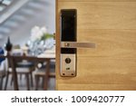 digital door lock | Shutterstock . vector #1009420777
