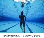 pool training session.... | Shutterstock . vector #1009421491