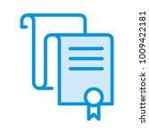 degree certified document  | Shutterstock .eps vector #1009422181