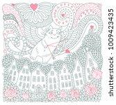 vector valentine day card.... | Shutterstock .eps vector #1009423435