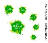 spring sale badge  label banner. | Shutterstock . vector #1009429759