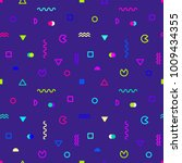 colored geometric shapes on... | Shutterstock .eps vector #1009434355