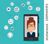 social network concept... | Shutterstock .eps vector #1009449391
