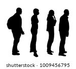 isolated silhouette turn  crowd | Shutterstock .eps vector #1009456795