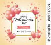 happy valentines day stylish... | Shutterstock .eps vector #1009457701
