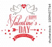 happy valentines day stylish... | Shutterstock .eps vector #1009457764