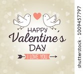 happy valentines day stylish... | Shutterstock .eps vector #1009457797