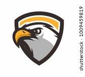 eagle head logo icon vector... | Shutterstock .eps vector #1009459819
