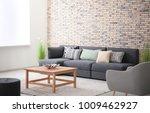 comfortable sofa with pillows...   Shutterstock . vector #1009462927