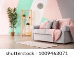 living room interior with...   Shutterstock . vector #1009463071