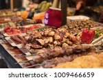barbeque meat stick at street... | Shutterstock . vector #1009466659