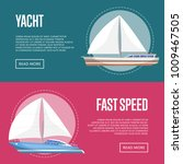 yachting and cruising yachts... | Shutterstock .eps vector #1009467505