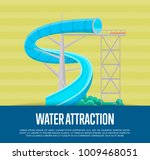 water attraction poster with... | Shutterstock .eps vector #1009468051