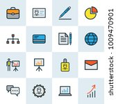 job icons colored line set with ... | Shutterstock . vector #1009470901